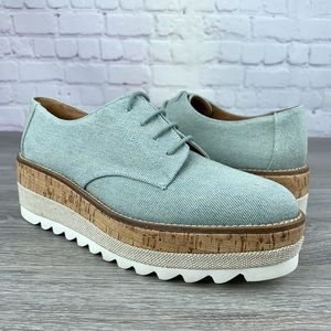 Platform Canvas Oxford Shoes Jane and the shoe